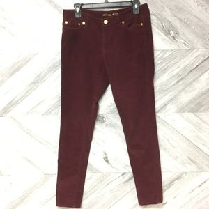 Michael Kors | Burgundy Corduroy Skinny Pants Sz 8